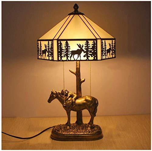 Lámpara de mesa de estilo tiffany, lámpara de cristal de 12 pulgadas, luz de noche, luz de noche, lámpara de lectura de escritorio, utilizado en sala de estar, dormitorio, estudio, librería, cafetería
