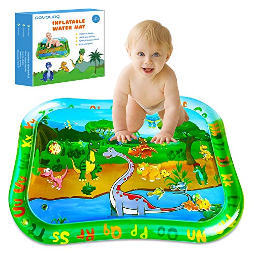 Tummy Time Water Mat Baby,Dinosaur Water Play Mat Inflatable Large,Sensory Mats Toys for Babies Toddlers,Early Development & Activity Toys for 3 6 9 Months Newborn Girls Boys(39.4 * 31.5in)