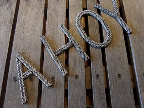 Rope Letters Personalize MADE TO ORDER Alphabet Nautical Decor Text Letters Nursery Decor