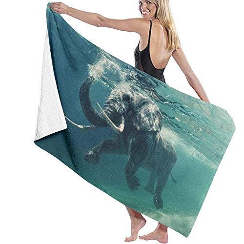 Zwemmen olifant onderwater microvezel badhanddoek bad branding zwemmen Super Soft Super absorberend handdoek