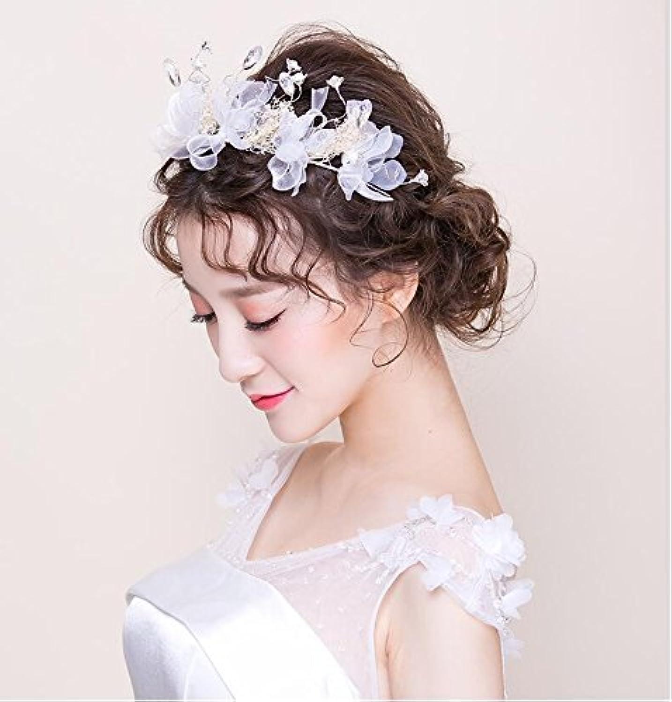 GTVERNHThe New Bride Friezes Korean Style of Clamp Star Dried Flower Hair Ornaments Wedding Dress Wedding Jewelry.