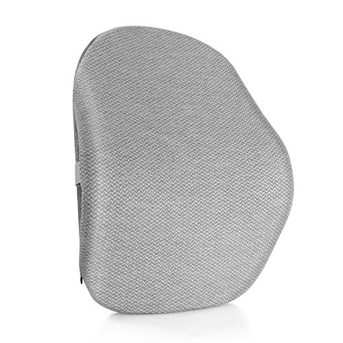 Prasacco Lumbar Support Pillow, Memory Foam Back Cushion for Car Seat,Office/Computer Chair, Lower Back Pain Relief, Improve Posture with Breathable Cover and Adjustable Strap