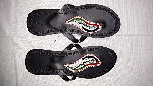 African Masai Beaded Handmade Sandals for Ladies (Size 38)