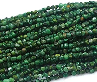 LKBEADS 1 hebra natural verde África jade pequeño Nugget suelto, filete IHIGHegular Pebble Beads Fit Jewelry Tamaño: 3 x 5...