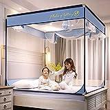 Mosquiteras cama simple tipo cama mosquiteros tres puertas yurtas Bentley Blue 1.8 * 2.0 cama