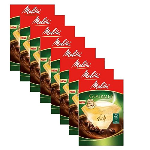 8 BOXES of Melitta Size 1x4 Gourmet Coffee Filters, Pack of 80