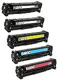 Prestige Cartridge 201X CF400X CF401X CF402X CF403X Pack de 5 Cartuchos de tóner láser compatibles para HP Color LaserJet Pro M252dw, M252n, MFP M277dw, MFP M277n
