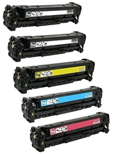Prestige Cartridge 201X CF400X CF401X CF402X CF403X Kit 5 Toner compatibili per HP Color LaserJet Pro M252dw, M252n, MFP M277dw, MFP M277n