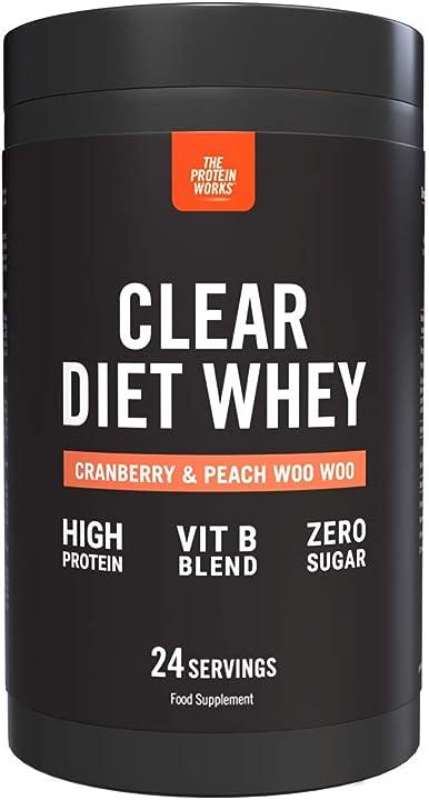 Proteine clear diet whey zero zuccheri e grassi the protein works gusto mirtillo rosso & pesca 24 porzioni B08CTD8X1G