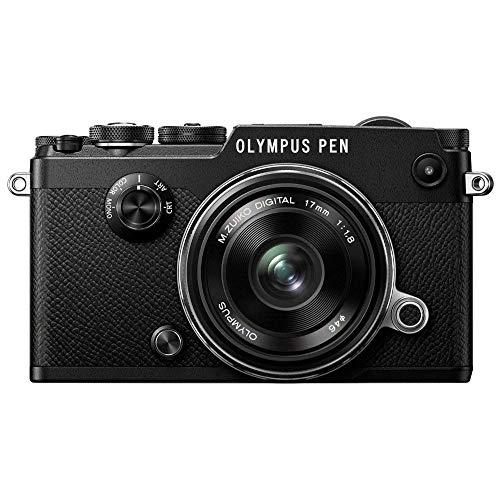 Olympus PEN-F Kit, Micro Four Thirds Systemkamera (20,3 Megapixel, 5-Achsen Bildstabilisator, elektronischer Sucher) + M.Zuiko Digital 17mm F1.8 Objektiv, lichtstarke Festbrennweite, schwarz