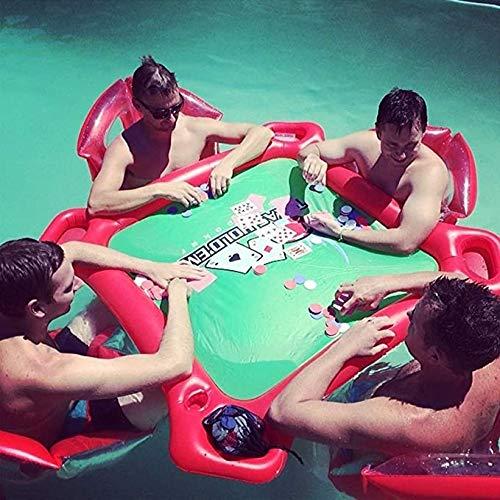 Sommer Wasser Party Spaß Luft Matratze - Wasser Sport Luftmatratze - Wasser Aufblasbarer Gaming Tisch Mit 4 Stühlen Set