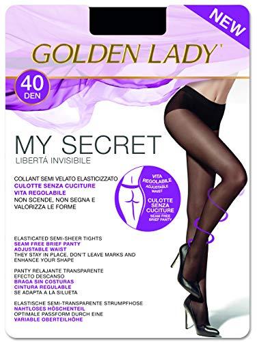 GOLDEN LADY Mysecret 40 Collant, 40 DEN, Trasparente (Melon 001a), Small (Taglia...