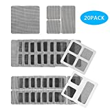 WIWAPLEX Door/Window Screen Repair Patch Set, 20 Sheet Strong Self Adhesive & Waterproof Fiberglass Holes Cover Mesh Sticky Wires Patches, 3-Size (4' x 4') (4' x 2') (2' x 2')