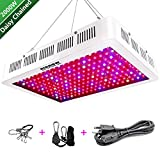 HIGROW 2000W Double Chips LED Grow Light Full Spectrum Grow Lamp with Rope Hanger and Daisy Chain for Greenhouse Hydroponic Indoor Plants Veg and Flower (10W LEDs)
