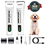 Dog Clippers Professional Dog Shaver Clippers Dog Grooming Clippers Pet Trimmers Clippers Quiet Pet Clippers Dog Grooming Kit Cordless LCD Display Low Noise Electric Dog Shaver Clippers