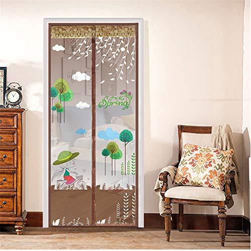 YUNSW Gedruckte Tür Gegen Mückenschutz, Sommertür Gegen Mückenschutz, Verschlüsselter Türschirm Mit Magnetischem Bildschirm