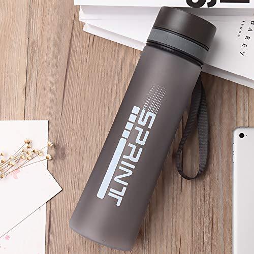 YOUSHANG Botella de agua a prueba de fugas, para correr, agua transparente, libre de BPA, con agarre de mano, botellas para adultos, ciclismo, grande, plástico, personalizable