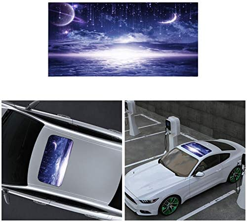 ATMOMO Moon Night Car Sunroof Window Decal Vinyl Sticker Perforated Funny Car Window Decal 35 product image