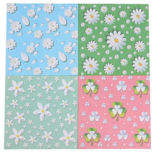 Impresión Multicolor Artesanal Hecho a Mano Papel Plegable Flor Plegable grúa de Papel Papel de Origami Materiales de Manualidades para álbumes de Recortes - Dream Flower House