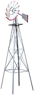 Garden Windmill 4FT 146cm Metal Ornaments Outdoor Decor Ornamental Wind Mill