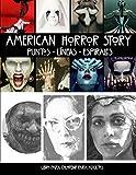 American Horror Story Puntos Líneas Espirales Libro para Colorear: Libro para Colorear para Adultos
