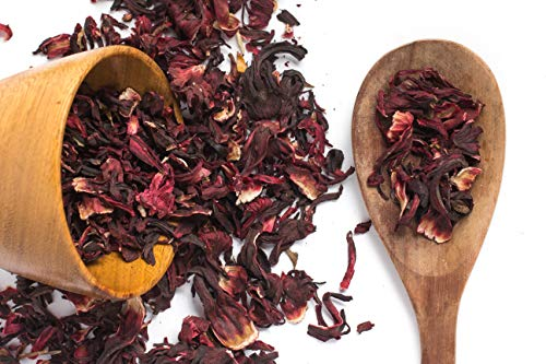 Hibiscus Flowers Tea for Healthy Living,100% Pure Naturally Grown African Hibiscus Plant Loose Leaf for Premium Quality Herbal Tea -250G