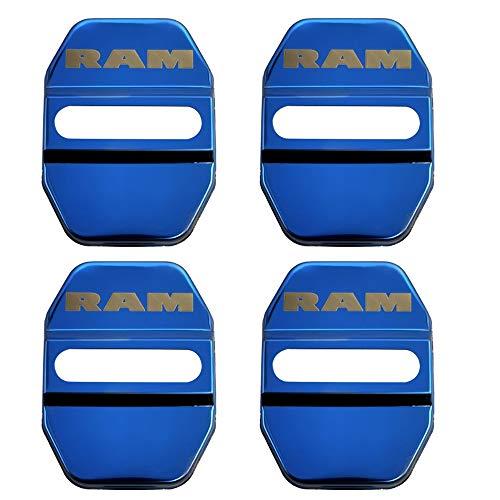 4 stks/set Rvs Deurslot Gesp Bescherming Cover trim Voor Dodge RAM Auto-accessoires
