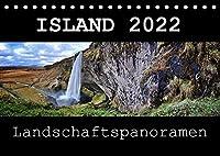 Island 2022 Landschaftspanoramen (Tischkalender 2022 DIN A5 quer): Die grossartige Landschaft Islands festgehalten im Panoramaformat (Monatskalender, 14 Seiten )