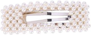 Lurrose Pearls Clipes de cabelo com pérolas e presilhas de cabelo brilhantes decorativas para festa de casamento feminina