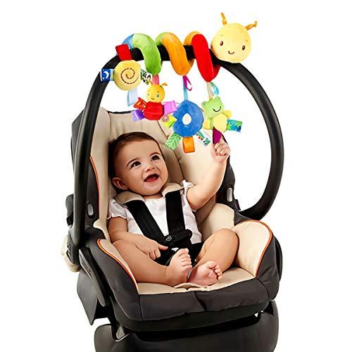 Uonlytech Baby Crib Hanging Rattles Toys, Car Seat Toy Hanging Rattles Spiral Stroller Crib Cot Toy Spiral Toy Pram Hanging for Babies Boys and Girls