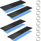 CTRICALVER Disipador de Calor M.2 SSD con lámina Adhesiva termoconductora, Placa de Circuito de Chip de CPU IC del disipador de Calor, Adecuado para Amplificador LED de Aluminio 70 mm × 22 mm × 1 mm