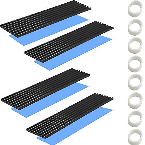 CTRICALVER M.2 SSD-Kühlkörper mit wärmeleitender Klebefolie gegen thermisches Durchgehen Kühlkörper-Kühlkörper-CPU-IC-Chip-Leiterplatte für LED-Verstärker Aluminium 70 mm × 22 mm × 1 mm