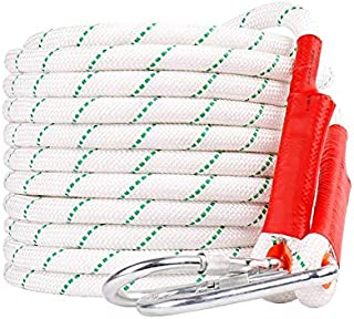 GLJJQMY Climbing Rope Static Rope 18mm Diameter Length 10/20/30/40/50/60/80/100m White High-Rise Home Emergency Rope Ropes (Color : 60M)