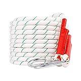 LBYMYB Cuerda De Escalada Cuerda Estática 20 Mm Diámetro Longitud 10/15/20/30/40/50/60/80 / 100m Cuerda De Emergencia Doméstica De Gran Altura Blanca Cuerda de Escalada (Size : 100M)