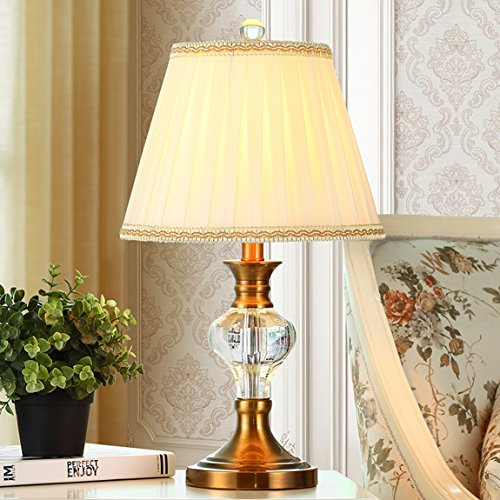 HZS Lámpara de Cristal Europea American Creative Fashion Lámpara de Dormitorio Moderna Simple (Color : B)