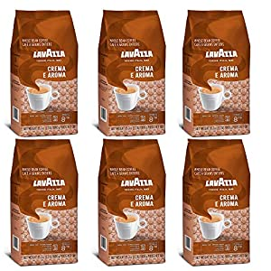 Lavazza Crema e Aroma, Café en Grano, Pack de 6, 6 x 1000g
