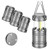 Moobibear 4 Pack LED Camping Lantern Lights Collapsible 500lm COB Technology Waterproof Lantern...