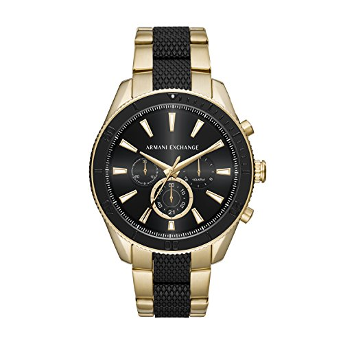 Armani Exchange Herren Chronograph Quarz Uhr mit Edelstahl Armband AX1814