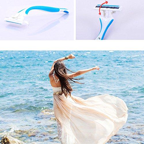 attachmenttou Las mujeres sobaco privada partes del cuerpo del pelo blanquea plástico Eliminar máquina de afeitar Razor