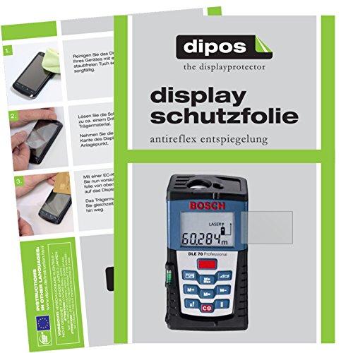 dipos I 3X Schutzfolie matt kompatibel mit Bosch DLE 70 Professional Folie Displayschutzfolie