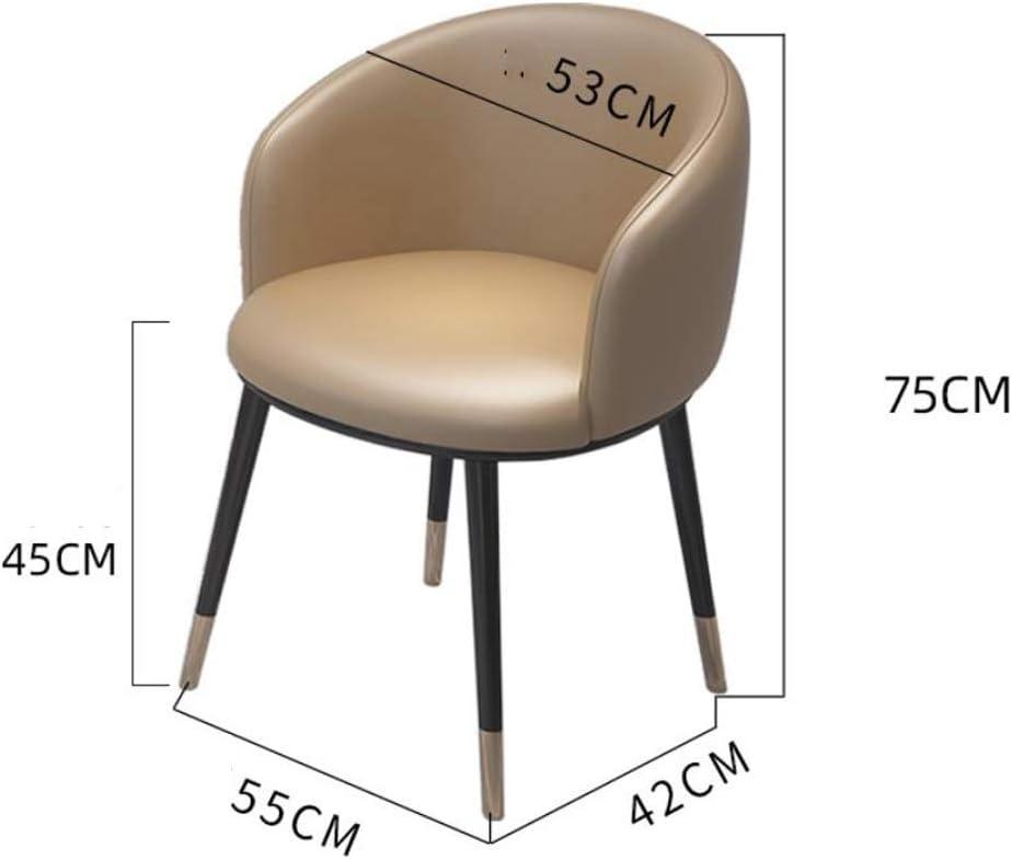 Simple Chaise Bureau étudiant et Chaise de Maquillage Tabouret Retour à la Maison à Manger Chaise d'ordinateur Unique (Color : Rose Red) Dark Gray