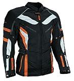 HEYBERRY Touren Motorrad Jacke Motorradjacke Textil schwarz orange Gr.M