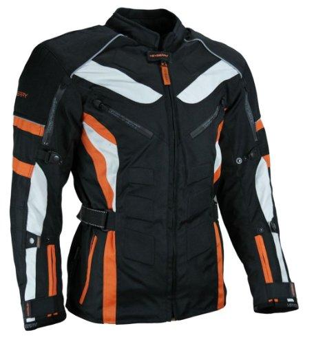 HEYBERRY Touren Motorrad Jacke Motorradjacke Textil schwarz orange Gr. XXL