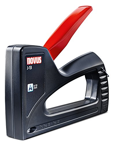 Novus Handtacker J-13, Hobby-Tacker aus ABS-Kunststoff, Unterlademechanik, Griffverriegelung, für 4 - 10 mm Klammern
