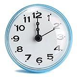 Cisixin Reloj Reloj de Bolsillo de baño fijado con Ventosa Accesorios para baño para fijación óptima Cuarto De Baño Cocina