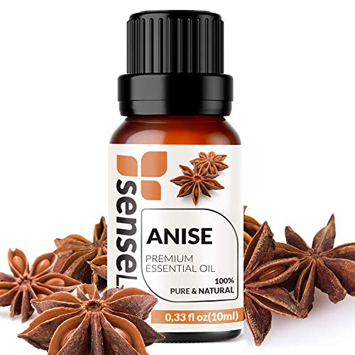 SenseLAB Anise Essential Oil - 100 % Pure, Natural Therapeutic Grade Anise Oil for Aromatherapy Diffuser - Relaxing Massage Oil - Fragrance Oil for Candle Making (10 ml)