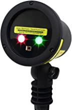 BlissLights Duo RG Multicolor Laser Projector - Indoor/Outdoor Home Decoration Landscape Lighting for Holidays, Parties, Events (Red, Green)