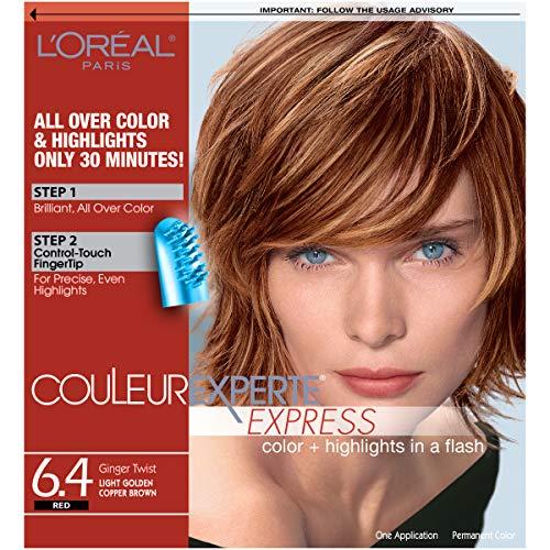 L'Oréal Paris Couleur Experte 2-Step Home Hair Color & Highlights Kit, Ginger Twist