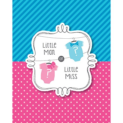 Bow or Bowtie Gender Reveal Party Invites - Pack of 8