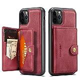 Case Happy-L Compatible avec iPhone 11 Pro Max, boîtier de portefeuille en cuir premium avec...
